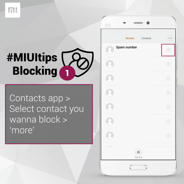 how to block a number in miui xiaomi