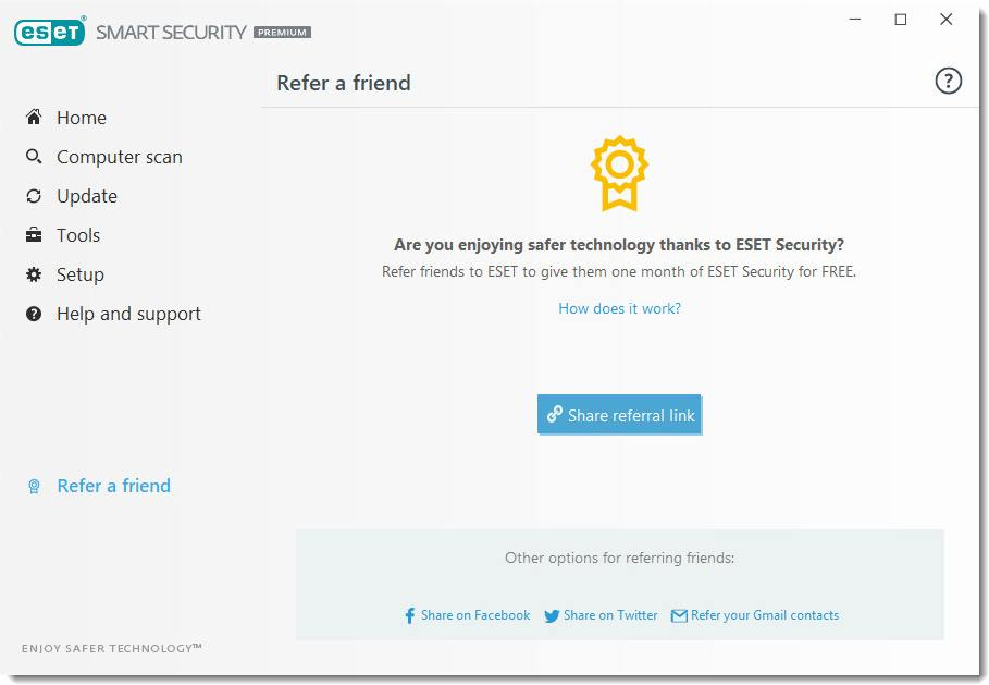 eset refer a friend / لایسنس نود 32