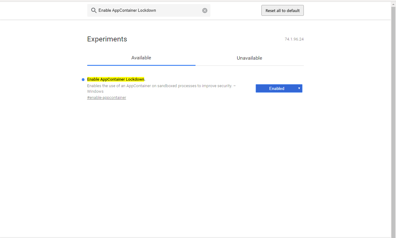 enable-appcontainer